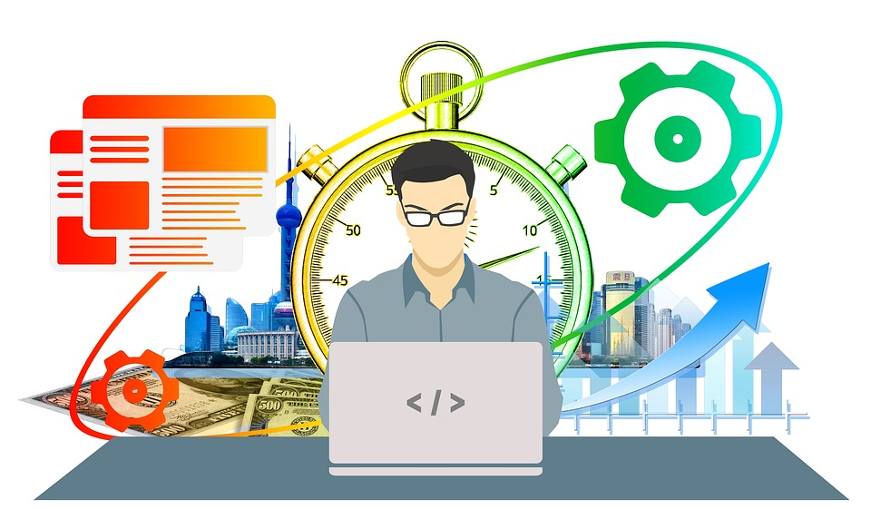 ビジネスマン 男性 パソコン