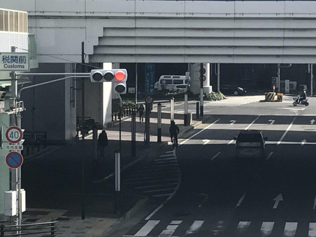 国道174号 日本一短い国道 交差点