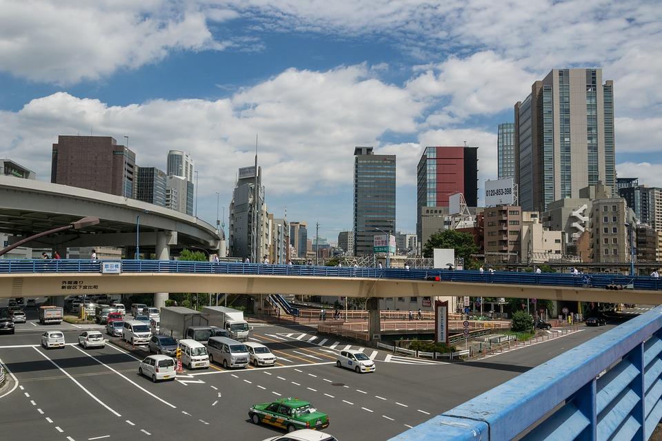 スカイライン 超高層ビル ジャンクション 東京 道路 転送 高層ビル ブリッジ