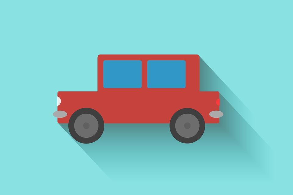 赤い車 イラスト