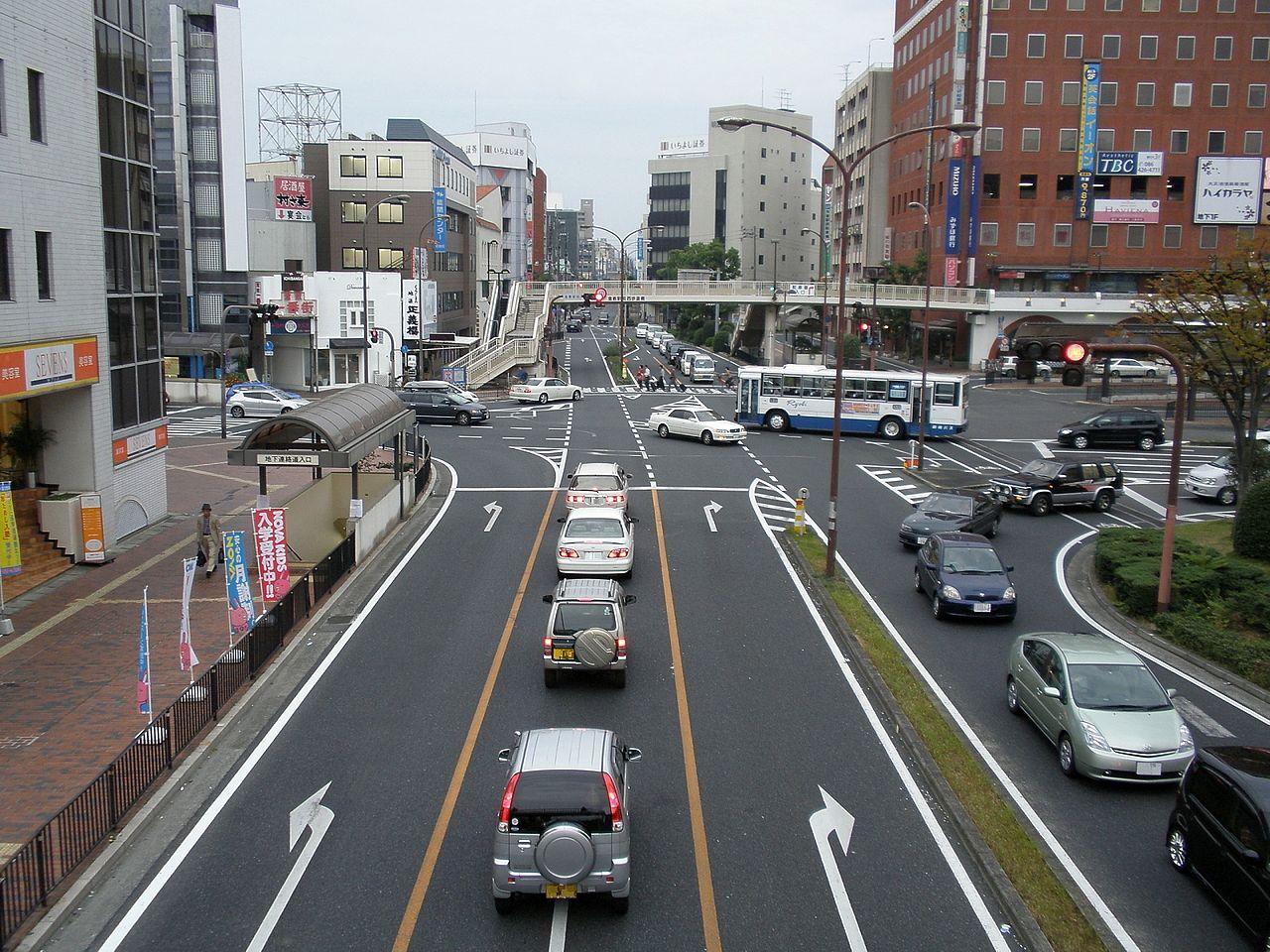JR倉敷駅前 交差点