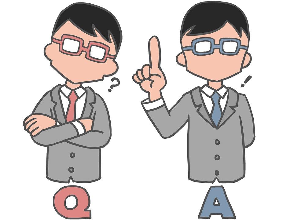 日本人 男性 ビジネスマン 質問 考える 悩む 会話 不安 教える 疑問 回答