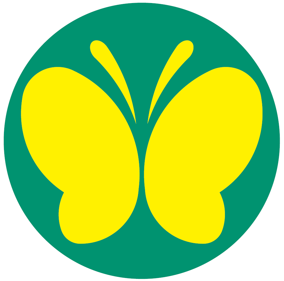 聴覚障害者標識 蝶々マーク