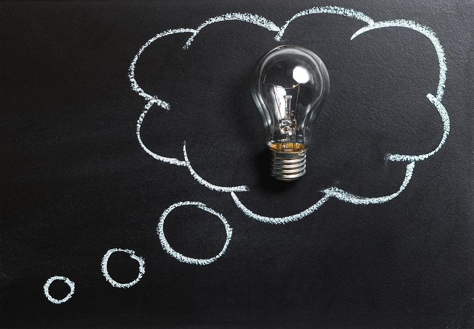 思想 アイデア 技術革新 想像力 インスピレーション 電球 ソリューション ブレイン ストーム