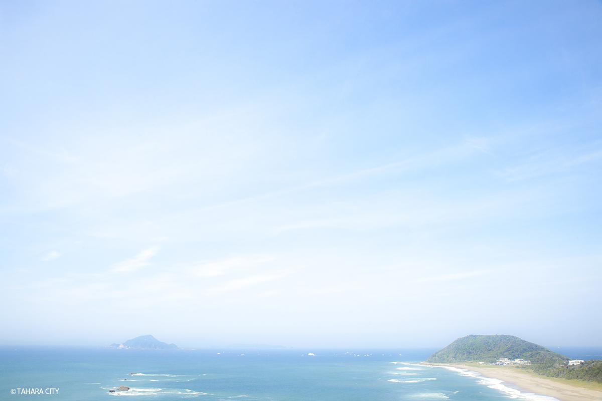神島 恋路ヶ浜 ドライブデート 空 海