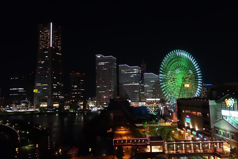 横浜 観覧車 みなとみらい Yokohama Minatomirai 夜景