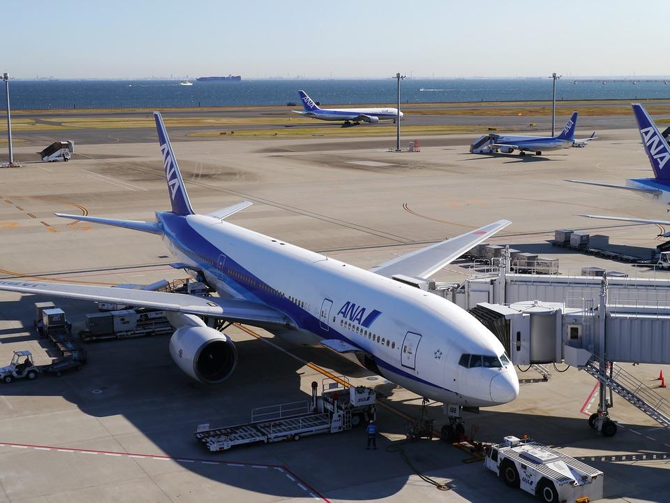 羽田 羽田空港 空港 Ana ジェット機 ターミナル 滑走路 東京湾