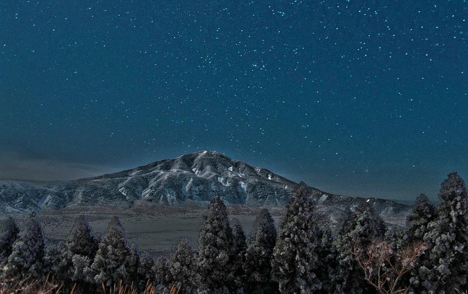 阿蘇 星 夜 火山 日本
